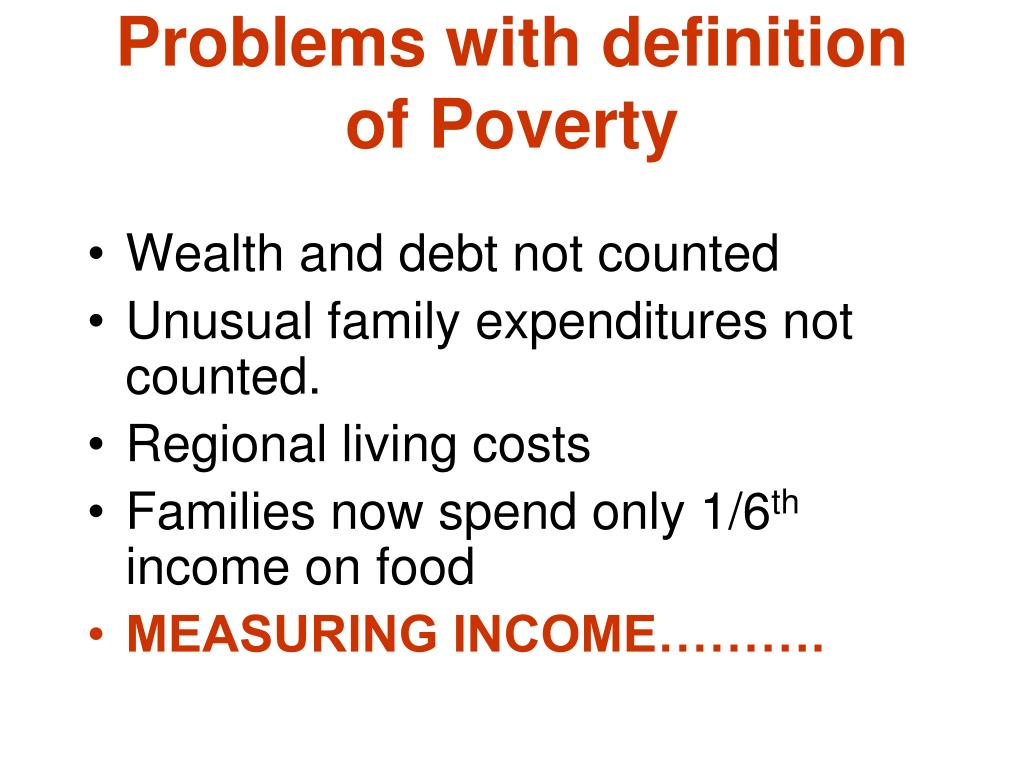 Problems with definition of Poverty