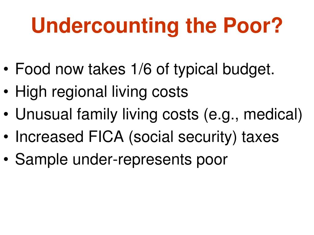 Undercounting the Poor?