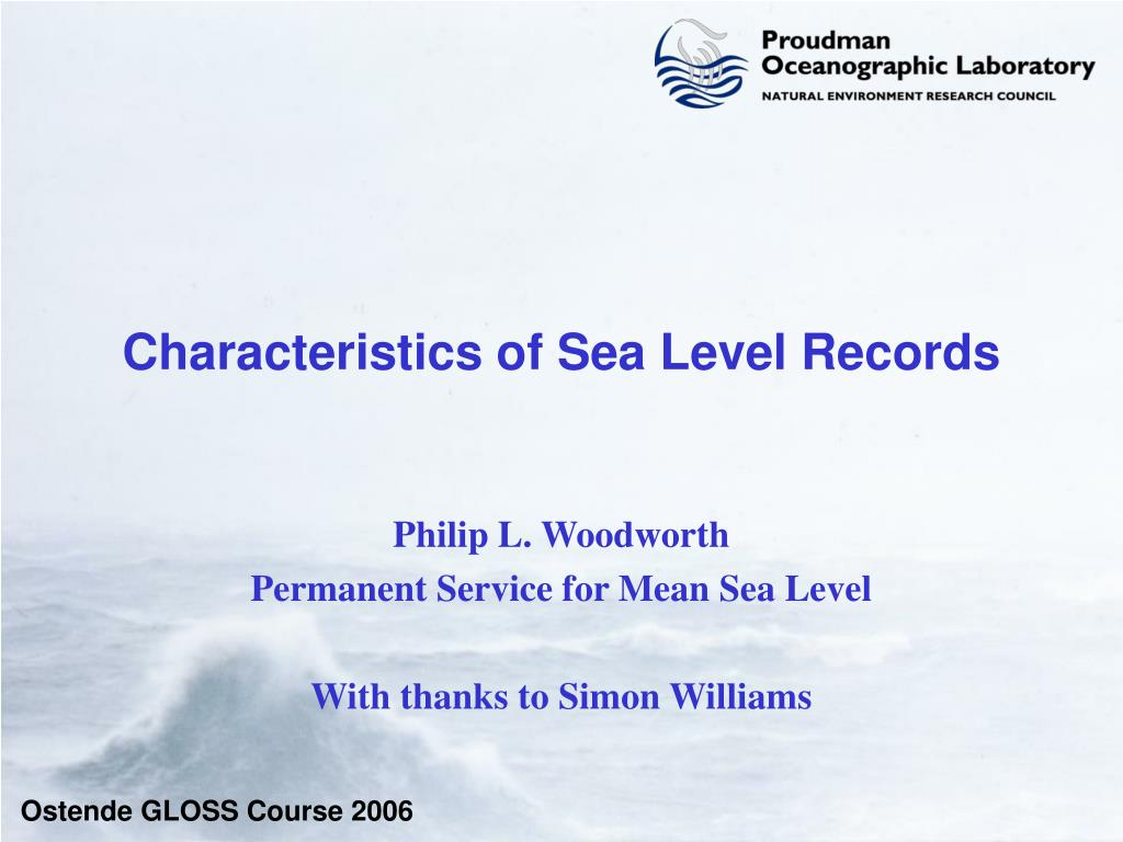 characteristics of sea level records l.