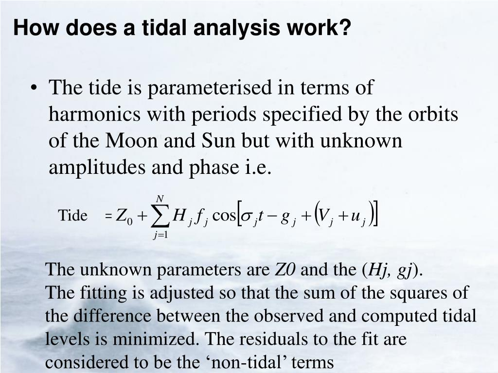 How does a tidal analysis work?