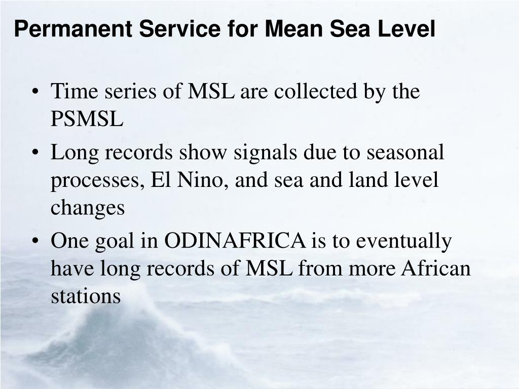 Permanent Service for Mean Sea Level
