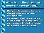 what is an employment network continued