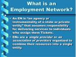 what is an employment network