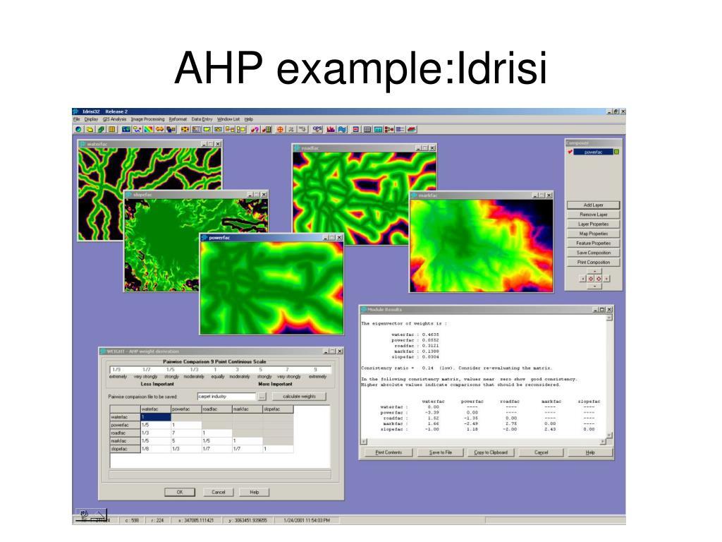 AHP example:Idrisi