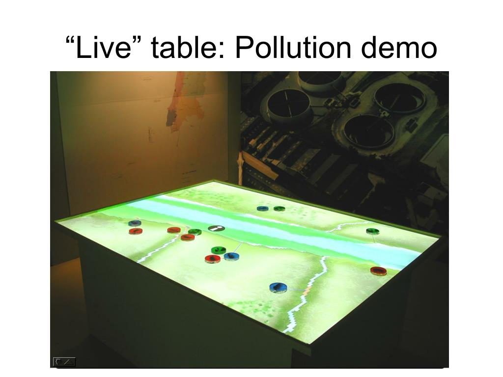 """""""Live"""" table: Pollution demo"""