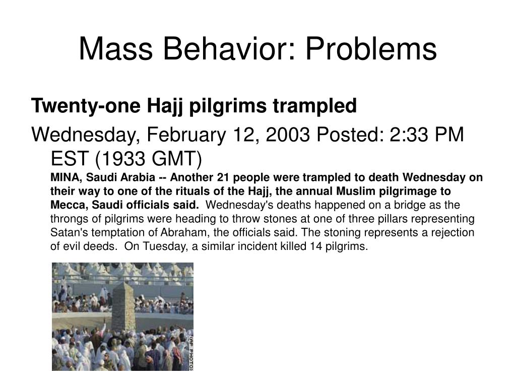 Mass Behavior: Problems