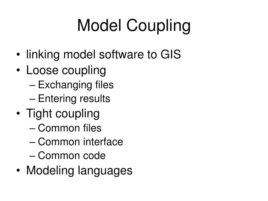 Model Coupling