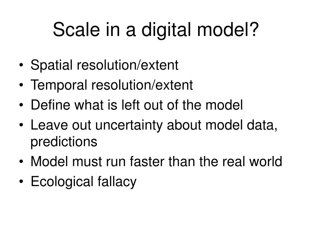 Scale in a digital model?
