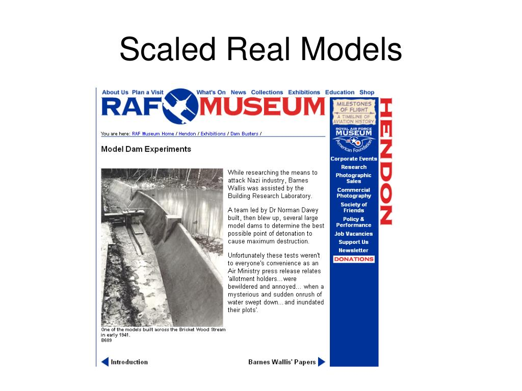 Scaled Real Models