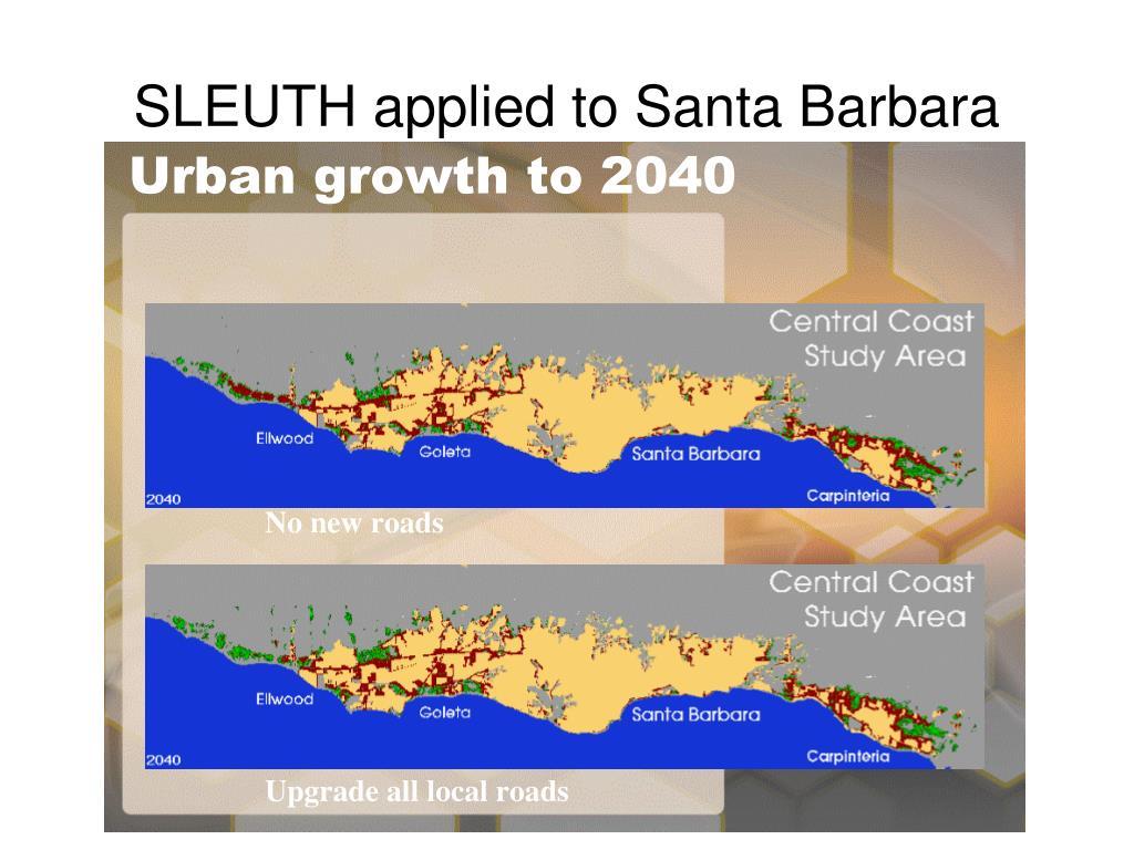 SLEUTH applied to Santa Barbara