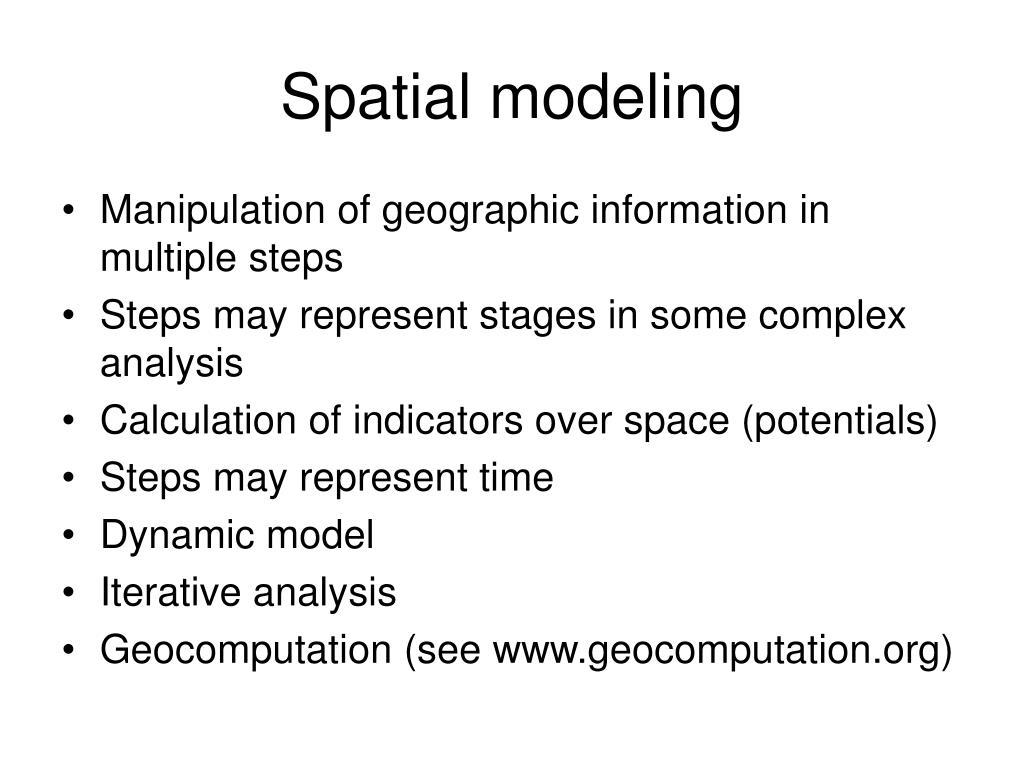 Spatial modeling