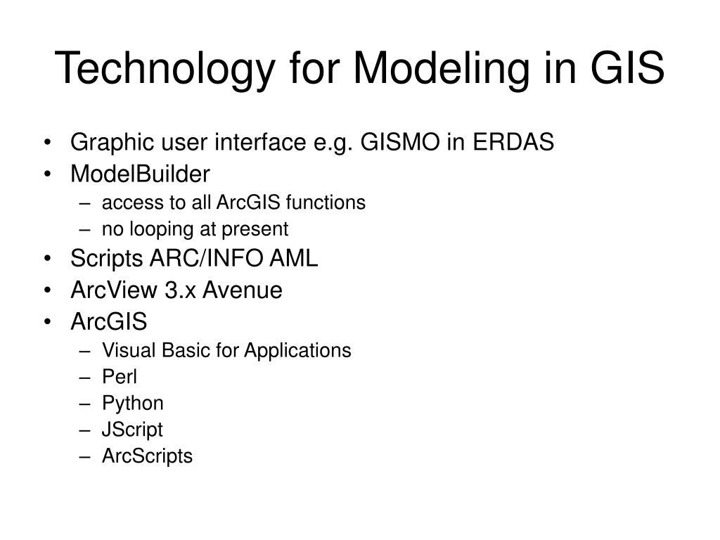 Technology for Modeling in GIS