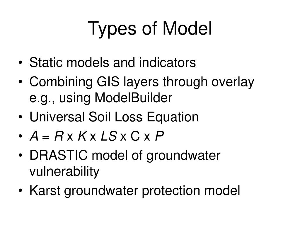Types of Model