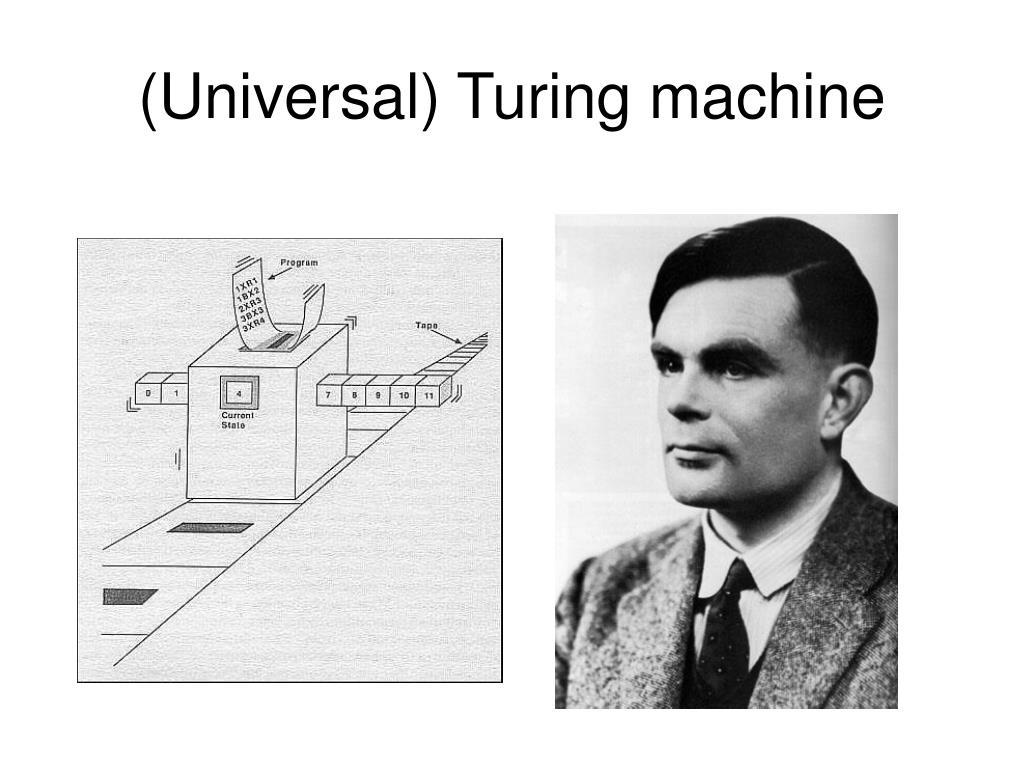 (Universal) Turing machine