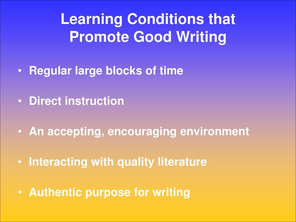 Learning Conditions that