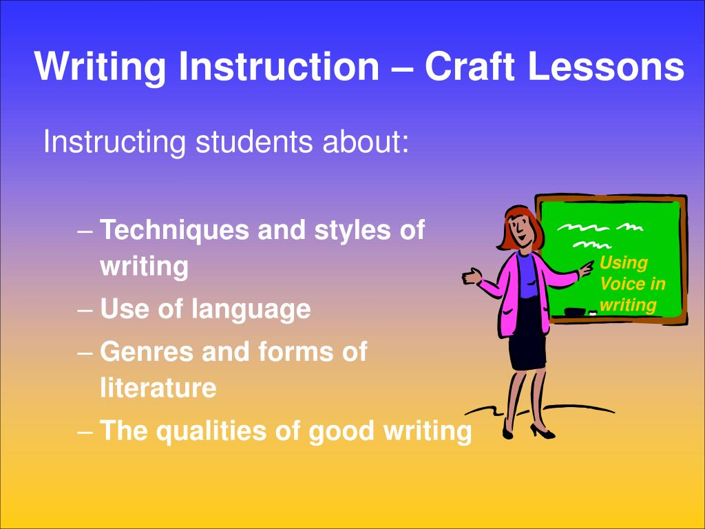 Writing Instruction – Craft Lessons