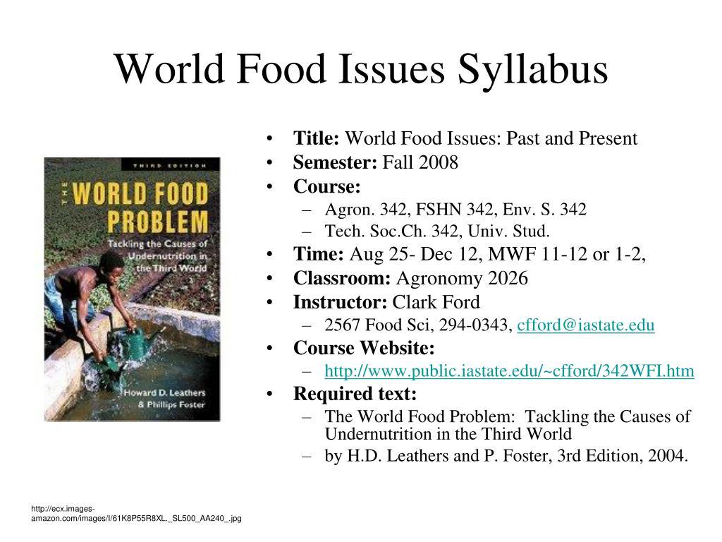 world food issues syllabus l.