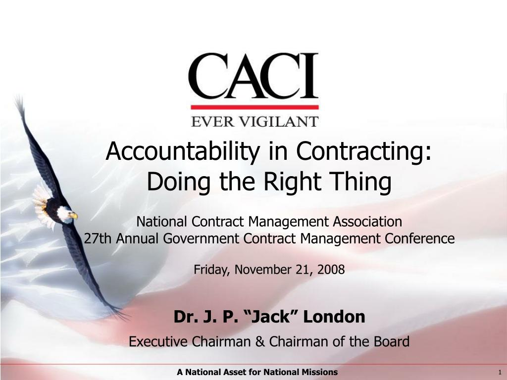 Accountability in Contracting: