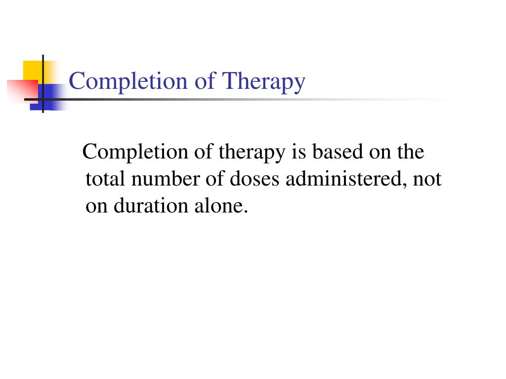 Completion of Therapy