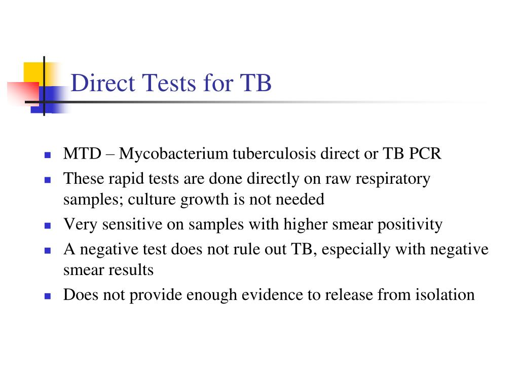 Direct Tests for TB
