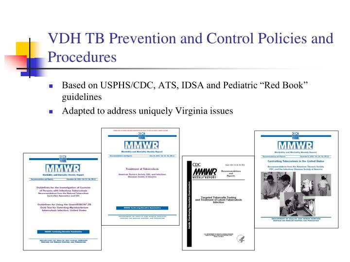 Vdh tb prevention and control policies and procedures