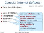 genesis internet softbots