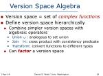 version space algebra