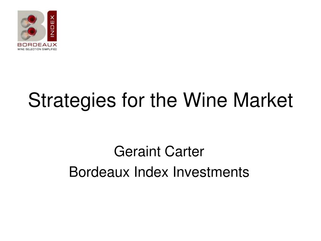 strategies for the wine market l.