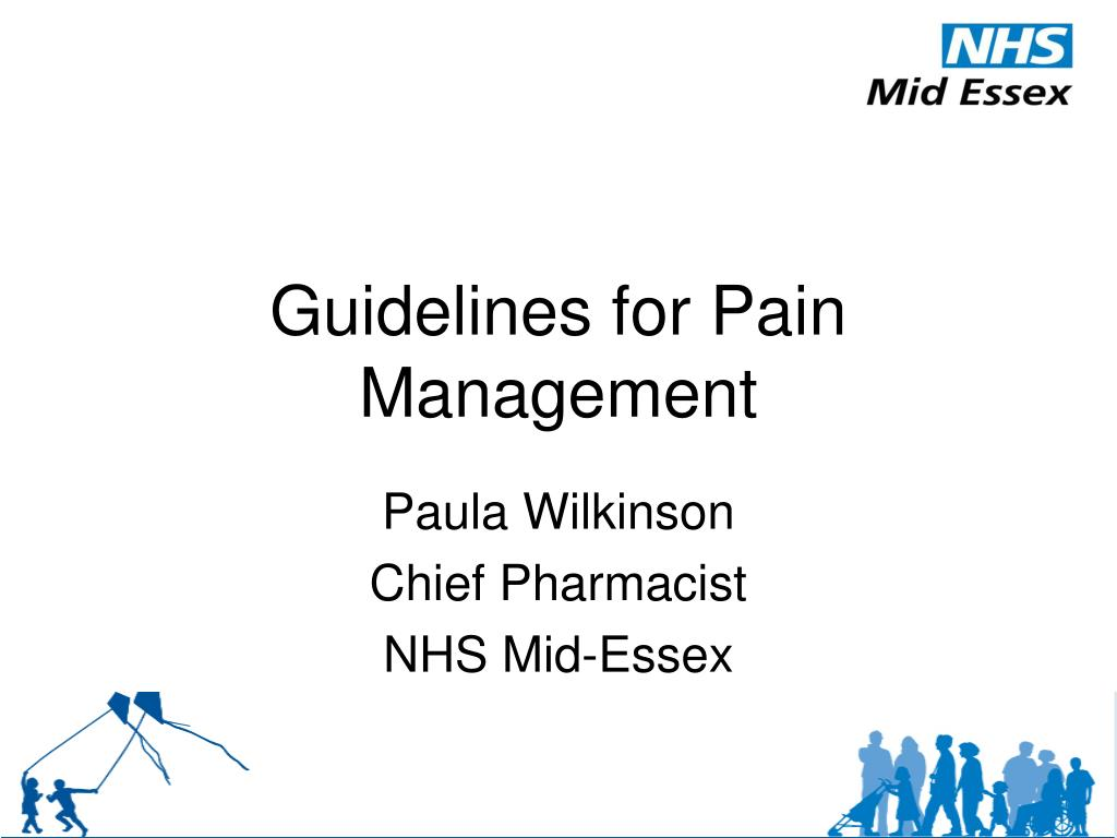 guidelines for pain management l.