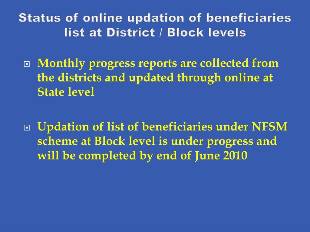 Status of online