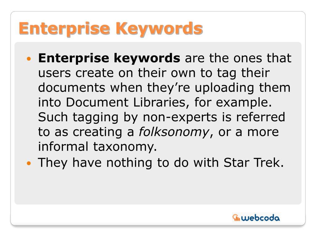 Enterprise Keywords