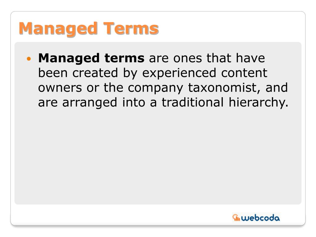 Managed Terms