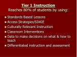 tier 1 instruction reaches 80 of students by using