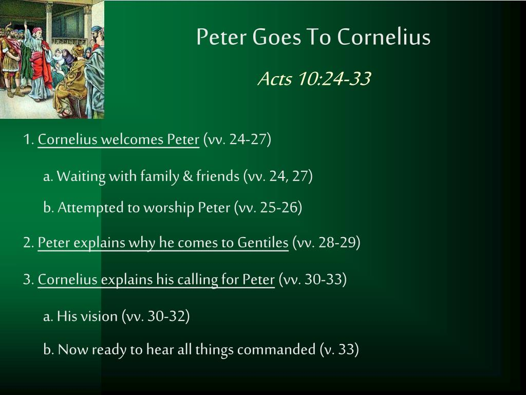 Peter Goes To Cornelius