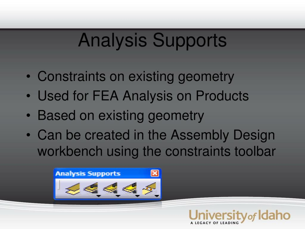 Analysis Supports