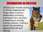 information on bullying5