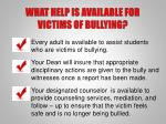 what help is available for victims of bullying