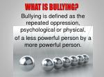what is bullying