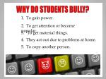 why do students bully