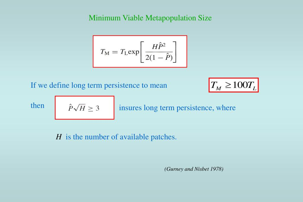 Minimum Viable Metapopulation Size