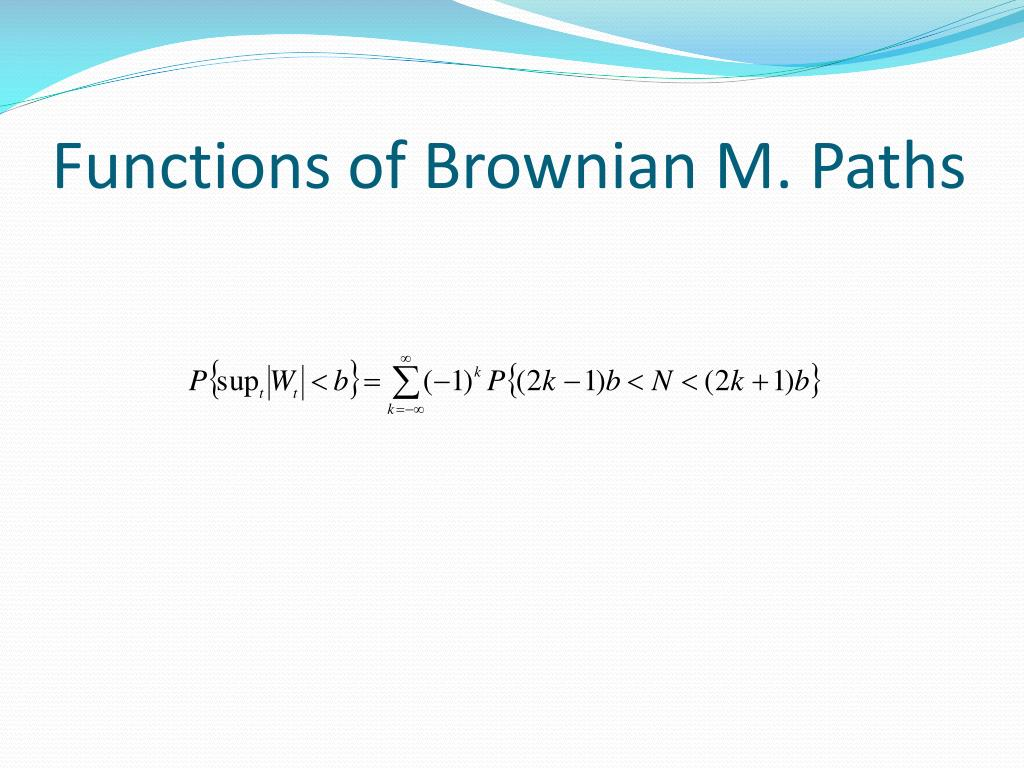 Functions of Brownian M. Paths