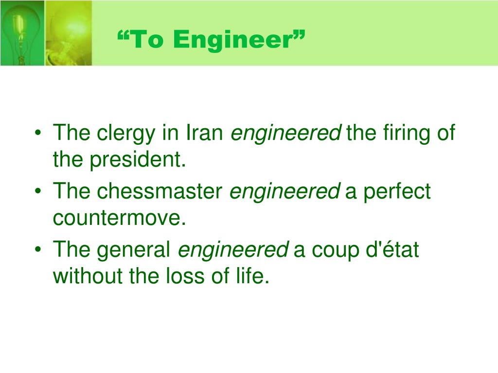 """To Engineer"""