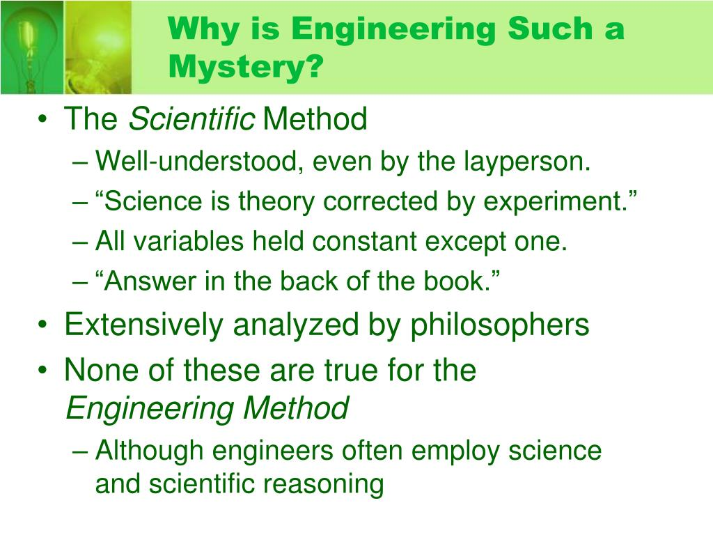 Why is Engineering Such a Mystery?