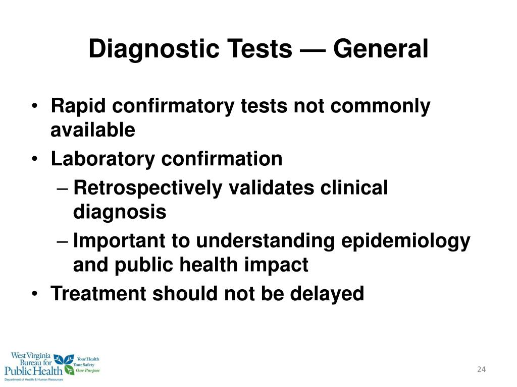 Diagnostic Tests — General