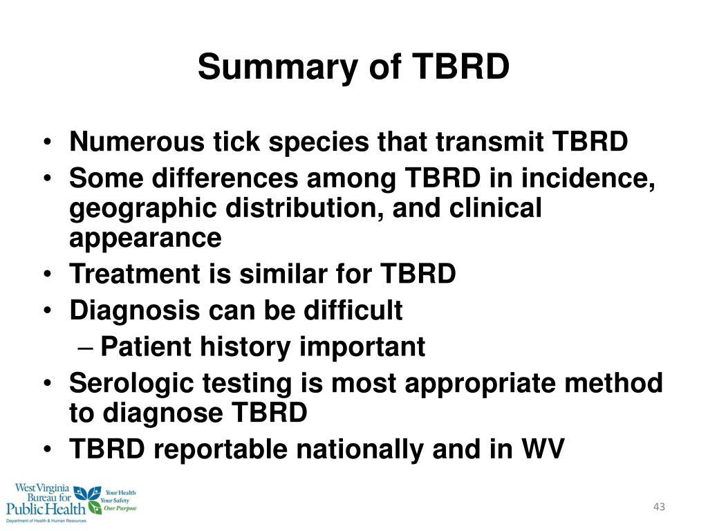 Summary of TBRD