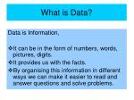 what is data