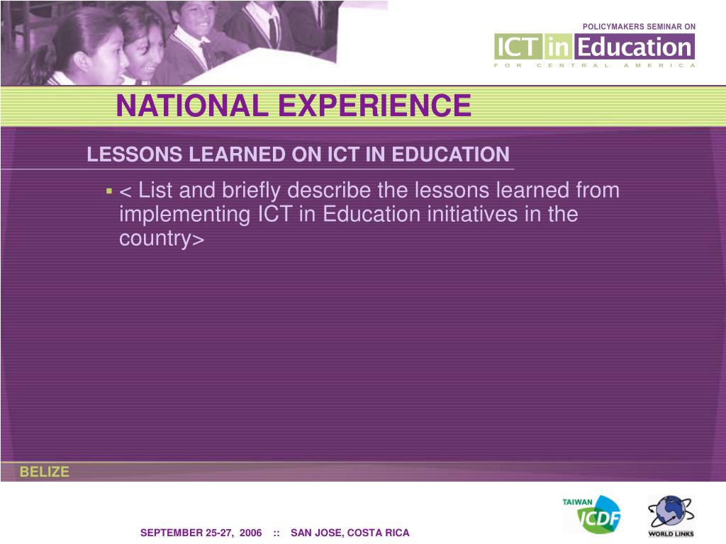 NATIONAL EXPERIENCE
