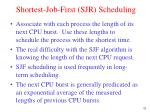 shortest job first sjr scheduling