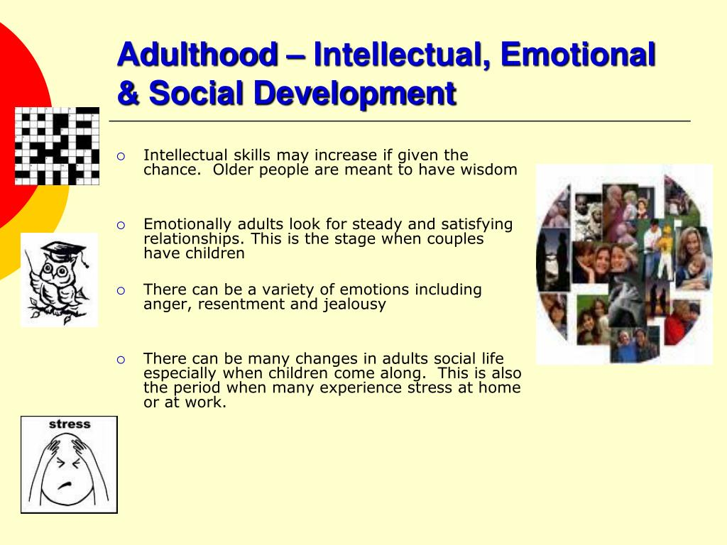 Adulthood – Intellectual, Emotional & Social Development