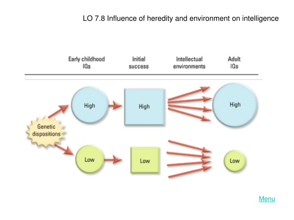 LO 7.8 Influence of heredity and environment on intelligence